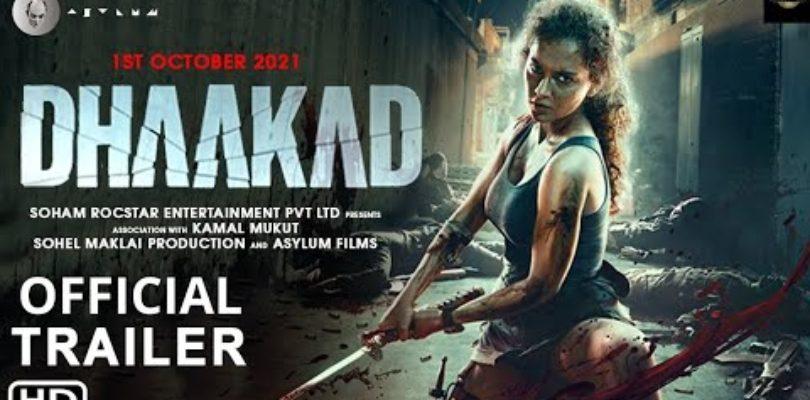 DHAAKAD ( 2021 )   Official Trailer   Kangana  Ranaut   Arjun Rampal   Dhaakad Movie Trailer   1 Oct